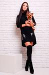 Платье Ангора (черный) FashionUP