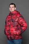 Куртка мужская зимняя красный 3D AL-102