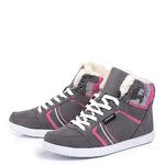 Женские серые ботинки