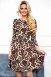 Расклешенное жаккардовое платье 42 44 46