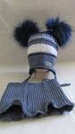 шапка на флисе+манишка 1-3 года