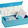 """Подарочная коробка на 2 банки """"Дудл"""" 12х27,5х7,2 см"""
