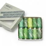 Набор бытовых ниток IDEAL 40/2 , 366м 100% п/э, ассорти (зеленые оттенки) уп.10шт