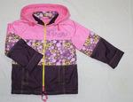 4119 Куртка для девочек на флисе