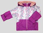 4128 Куртка для девочек на флисе