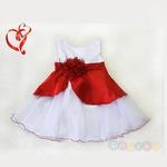 Платье нарядное «Орхидея» бело-красное
