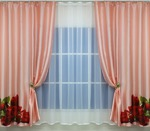 Комплект штор Лола с элементами фотопечати: оптом портьеры для спальни, гостиной