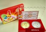 Набор Фен - шуй монет с петухом на благополучие