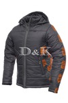 Куртка арт.907.1 серый+оранж
