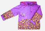 4111 Куртка для девочек на флисе