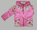 4110 Куртка для девочек на флисе