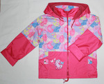 4096- куртка для девочек на флисе