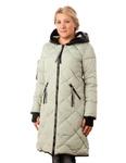 Амалия куртка зимняя с капюшоном отделка эко кожа