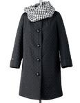Марта стеганное пальто +снуд