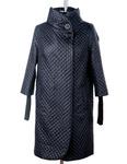 Эльза стеганное демисезонное пальто прямого силуэта