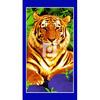 Полотенце вафельное банное-80х150(тигр)