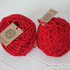 Трикотажная пряжа цвет красный, 100м