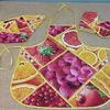Кухонный набор(4 предмета)-Ягода -малина
