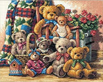 Dimensions Needlecrafts Counted Cross Stitch, Teddy Bear Gathering