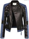 Куртка женская, Кожа + Джинсы #101