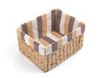 Коробка прямоугольная, без крышки, с текстильной подкладкой, кукурузное волокно, 26*20*15см