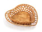 Хлебница с расправленными краями в виде сердечка, редкое плетение, 20*20*5см