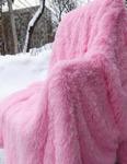 плед розовый травка