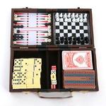 Набор игр 6 в 1 в кейсе, 22х27см, пластик, бумага, МДФ, 10054