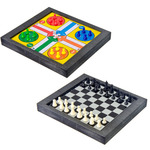 Набор игр 3 в 1 (шашки, шахматы, лудо), на магнитной доске, 26х23см, пластик, металл