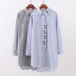 Женская удлиненная рубашка , большие размеры арт 1334