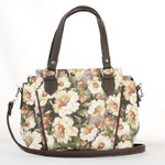 Сумка 371 цветы беж