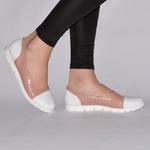 Женские комбинированные туфли на низком ходу