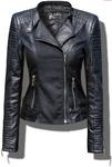 Куртка Женская RAMONESKA Кожа + Материал #57