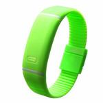 Браслет силиконовый с часами (зеленый)