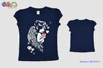 Фуфайка (футболка) для девочек модель 25