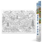 Карта-раскраска «Лес и горы»