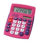 Калькулятор настольный 8 разр. 2-е питание розовый, разм.120*87*22 мм