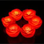 Светильник роза красная