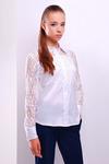 блуза Камала д/р (белый) - TM Glem