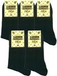 Мужские носки SkySocks CM-4 лен чёрные гладкие