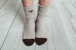 Носки из монгольской шерсти серый