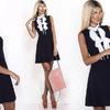 Маленькое черное платье с консервативным воротником приятно удивит своим изящным внешним видом