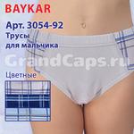 3054-92 цветные с рисунком Baykar 12 (плавки для мальчика)