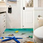 Наклейка для ванной комнаты Морские звёзды