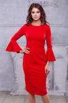Платье красное трикотаж мелисса