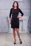 Платье черное с пуговицами