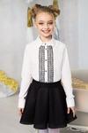 Блузка школьная для девочки (рост 128 см)