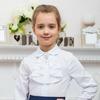 Школьная блузка для девочки с длинным рукавом (128 см)