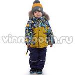 Зимний комплект Kiko для мальчика с рюкзаком (горчица), 1-6 лет