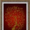 """К-4026 """"Дерево изобилия и достатка в золоте"""" - рисунок на ткани"""